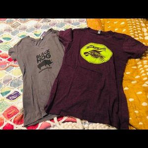 Two New England Breweries Tee Shirts